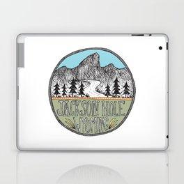 Jackson Hole circle illustration Laptop & iPad Skin