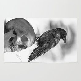 The Raven and The Skull - By Julio Lucas Rug