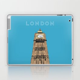 London Big Ben Travel Poster Laptop & iPad Skin