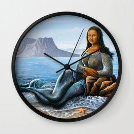 Monalisa Mermaid Wall Clock