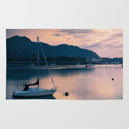 A boat on the river Rug