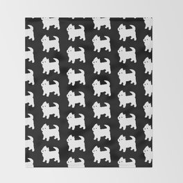 Westie Dog Pattern Throw Blanket