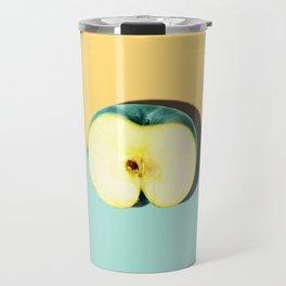 Tropical Fruit. Apple Half Slice. Pastel Travel Mug