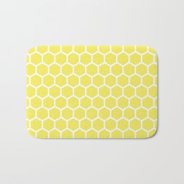Summery Happy Yellow Honeycomb Pattern - MIX & MATCH Bath Mat