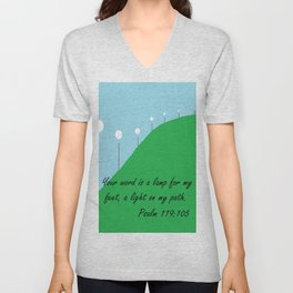 Your Word is a Lamp Unisex V-Neck