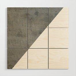 Concrete Vs White Wood Wall Art