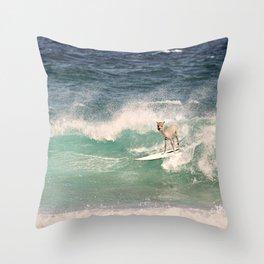NEVER STOP EXPLORING - SURFING HAWAII Throw Pillow