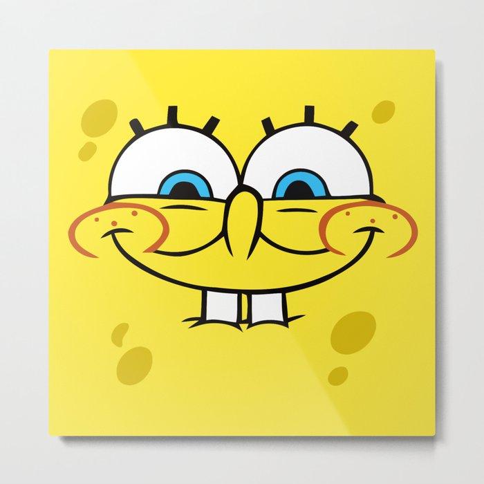 Spongebob Naughty Face Metal Print