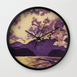 Purple Mountain Wall Clock