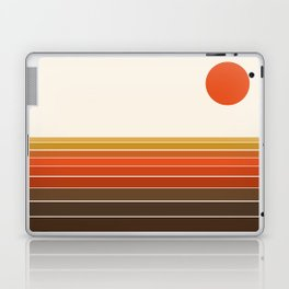 Peace Out - sunset ocean surfing beach life 70s style retro 1970s design Laptop & iPad Skin