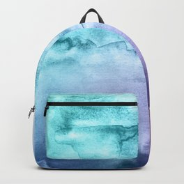Watercolor Mystery - Blue and Purple Backpack