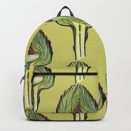 Botanical pattern from the new fall crop of artichokes Backpack