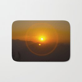 Buddha Sunset over Nepal Bath Mat