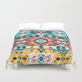 Tribal chic seamless colorful patterns Duvet Cover
