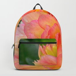 """Coral Tipped"" Dahlia by Teresa Thompson Backpack"
