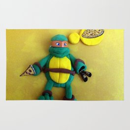 Orange mask turtle Rug