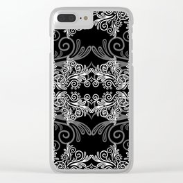Abstract floral background Clear iPhone Case