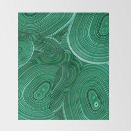 Green Malachite Nature Pattern Design Abstract Throw Blanket