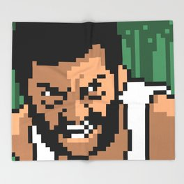 Logan minimal pixel art Throw Blanket