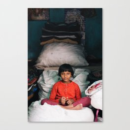 Child in Kolkata Canvas Print