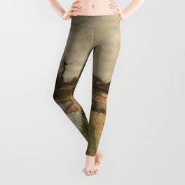 Classic Art - Flower Beds in Holland - Vincent van Gogh Leggings