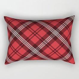 Scottish Plaid (Tartan) - Red Rectangular Pillow