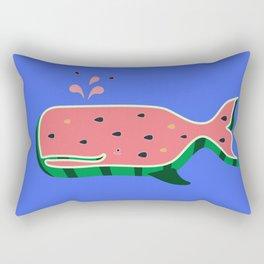 Watermelon whale Rectangular Pillow