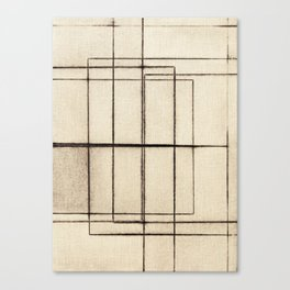 Toner Lines on Paper Canvas Print