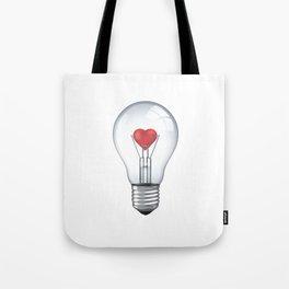 Lamp heart Tote Bag