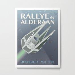 Tie Interceptor Rallye Metal Print