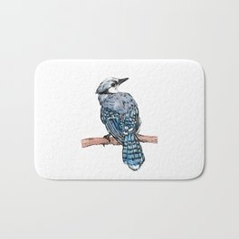 Watercolor Bird Bath Mat