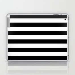 Stripe Black & White Horizontal Laptop & iPad Skin