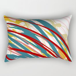 Chaotic Rosy Disorder Abstract Art Rectangular Pillow