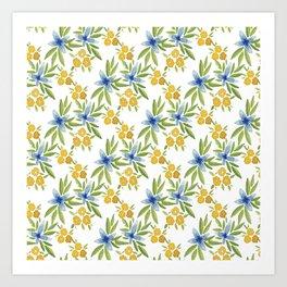 Blue Flower Power Art Print