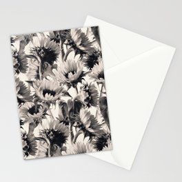 Sunflowers in Soft Sepia Stationery Cards