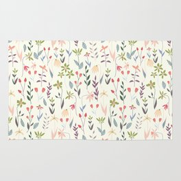 Wildflowers in the Air Sage Rug