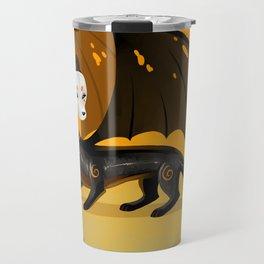 Black Stoat Travel Mug