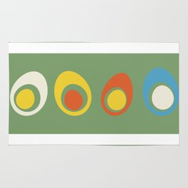 Vintage eggs Rug