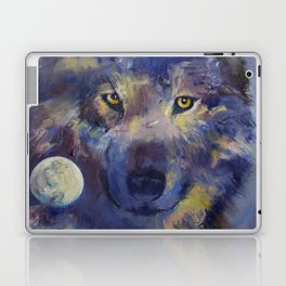Grey Wolf Moon Laptop & iPad Skin