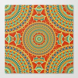 Mandala of Happyness, Health and Wealth Canvas Print