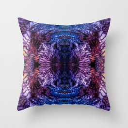Stained Glass (Blue & Purple) Throw Pillow
