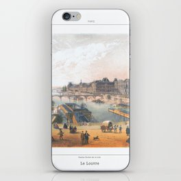 Paris art print Paris Decor office decoration vintage decor LAC BOIS BOULOGNE of Paris iPhone Skin