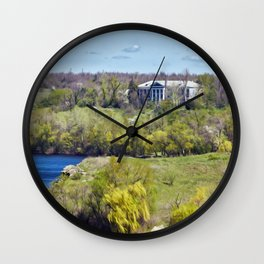 Mansion on the island Wall Clock