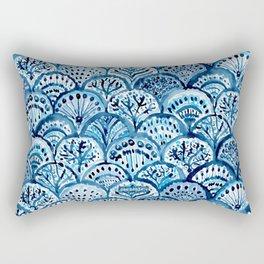 DEEP LIFE Mermaid Scales Rectangular Pillow