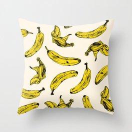 Banana Cream Throw Pillow