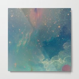 Space fall Metal Print