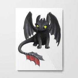 Toothless Dragon Metal Print