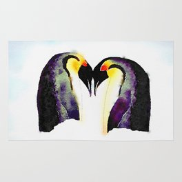 Penguin Love Rug