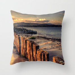 Cunnigar Beach Throw Pillow