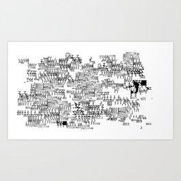 TYPE_03 Art Print